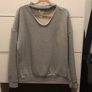 Forever 21 cut out grey sweater